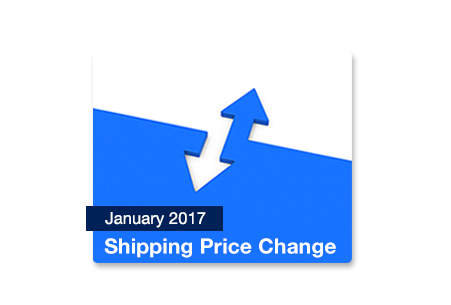 January 2017 Shipping Price Change