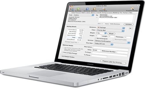 Endicia For Mac: Mac Shipping Software | Endicia