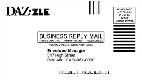 Understanding fim facing identification marks on for Usps business reply mail template