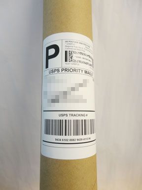 Figure 2 - bad label placement on tube