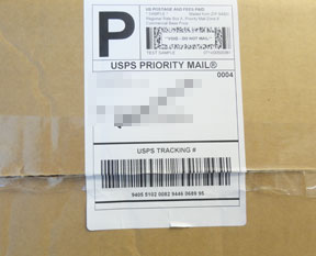 Figure 6 - proper label placement on box
