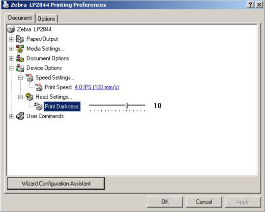 Figure 7 - Printer Control Panel > Printing Preferences