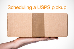 Scheduling a USPS pickup