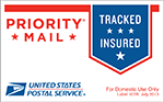 New USPS Priority Mail label