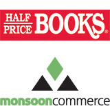 Half Price Books and Monsoon Commerce logos