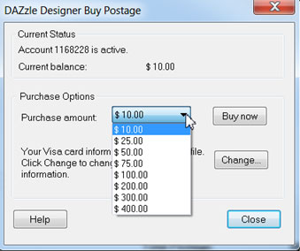 DAZzle Designer Buy Postage screenshot