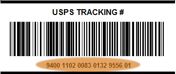 Endicia Internet Postage: USPS Tracking number